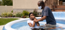 Utah Jehovah's Witnesses baptized in backyards during 2nd virtual convention