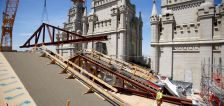 'Critical' piece of Salt Lake Temple's original roof gets replaced as renovation project continues