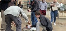 Blind students use adaptive technologies to participate in a chemistry experiment