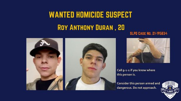 Salt Lake police attempting to locate 20-year-old man after 1 dies in shooting