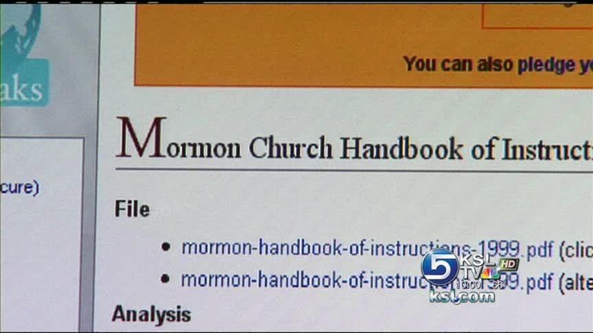 Lds Church Handbook Put Online Without Permission Ksl